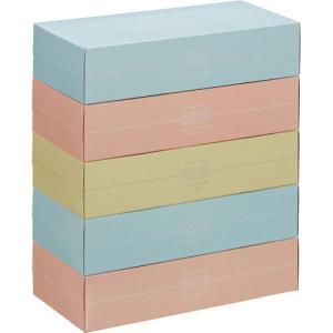 スバル紙販売 ティッシュペーパー Pastel 150組/箱 1パック(5箱) tanomail