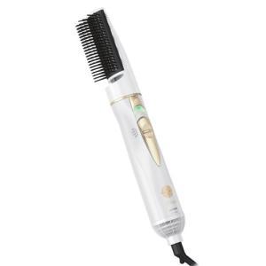 メーカー:マクセルイズミ   品番:CD-TM45-W   なみ型コーム付ブラシが髪をしっかりキャッ...