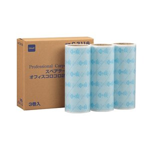 ニトムズ オフィスコロコロ フロアクリン240 スペアテープ 幅240mm×40周巻 C3116 1パック(3巻)|tanomail
