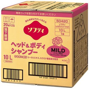 メーカー:花王   品番:504203   低刺激性洗浄成分で髪もお肌もやさしく洗い上げます。全身シ...