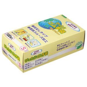 オカモト ぴったりゴム手袋(粉なし) Sサイズ NO310−S 1パック(100枚)...