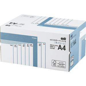 TANOSEE αエコカラーペーパーII A4 クリーム 業務用パック 1箱(5000枚:500枚×10冊)|tanomail