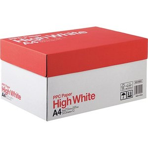PPC PAPER High White A4 1箱(5000枚:500枚×10冊)|tanomail