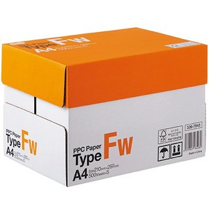 TANOSEE PPC Paper Type FW A4 PPCFW−A4−5 1箱(2500枚:500枚×5冊)|tanomail