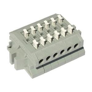 サトーパーツ スクリューレス端子台 極数6 ML−1700−A−6P 1個 (お取寄せ品)
