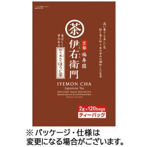 宇治の露製茶 伊右衛門 炒り米入りほうじ茶ティーバッグ 2g 1パック(120バッグ)