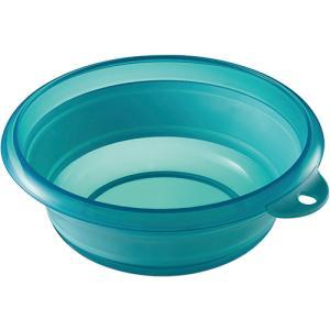 メーカー:伊勢藤  品番:I-522BL  小さくたためる、やわらか素材のソフト湯おけ。
