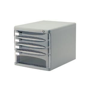 ナカバヤシ セキュリティデスクトップレターケース A4タテ 浅3段・深1段 グレー A4−SK4G 1台 tanomail