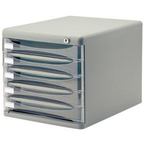 ナカバヤシ セキュリティデスクトップレターケース A4タテ 浅5段 グレー A4−SK5G 1台 tanomail