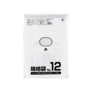 クラフトマン 規格袋 12号 ヨコ230×タテ340×厚み0.02mm HKT−006 1パック(100枚)