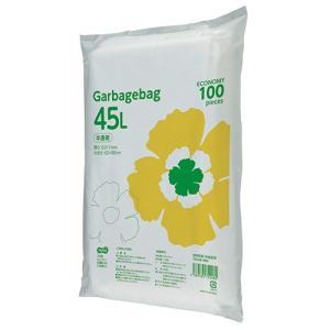 TANOSEE ゴミ袋エコノミー 半透明 45L 1パック(100枚)