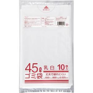 クラフトマン 業務用乳白半透明 メタロセン配合厚手ゴミ袋 45L HK−084 1パック(10枚)
