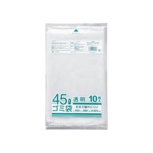 クラフトマン 業務用透明 メタロセン配合厚手ゴミ袋 45L HK−087 1パック(10枚)