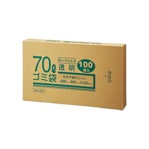 クラフトマン 業務用透明 メタロセン配合厚手ゴミ袋 70L BOXタイプ HK−097 1箱(100枚)