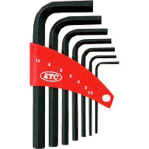 京都機械工具 KTC L形六角棒レンチセット 7本組 HL107 1セット (お取寄せ品)