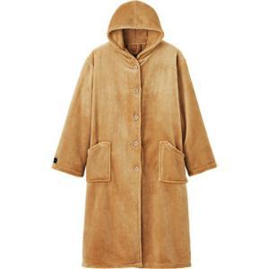 ナイスデイ mofua プレミアムマイクロファイバー 着る毛布(フード付) モカベージュ 1枚