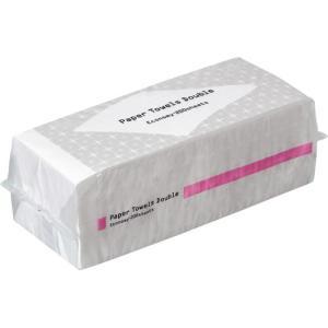 TANOSEE ペーパータオル 抗菌・ダブル(エコノミー) 200組 1パック|tanomail