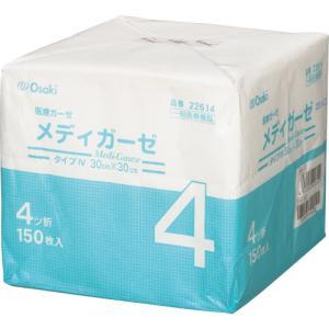 オオサキメディカル メディガーゼ 30×30cm 4ツ折 22614 1パック(150枚)|tanomail