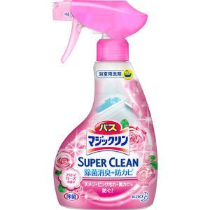 花王 バスマジックリン 泡立ちスプレー SUPER CLEAN アロマローズの香り 本体 380ml 1本|tanomail