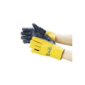 カミキ 防振手袋 天然牛表革製 T−1 1双 (お取寄せ品)