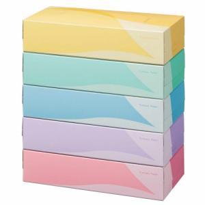 TANOSEE ティッシュペーパー 5colors 200組/箱 1セット(60箱:5箱×12パック) tanomail