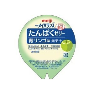 明治 メイバランスたんぱくゼリー 青リンゴ味 58g 1セット(24個) (お取寄せ品)|tanomail