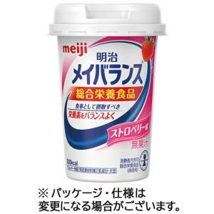 明治 メイバランスMiniカップ ストロベリー味 125ml 1セット(24本) (お取寄せ品)