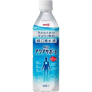 明治 アクアサポート 500ml ペットボトル 1セット(24本) (お取寄せ品)