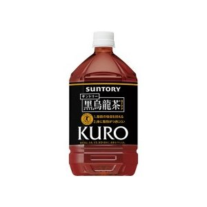 サントリー 黒烏龍茶 1L ペットボトル 1セット(12本) tanomail