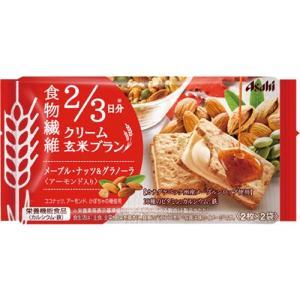 アサヒグループ食品 バランスアップ クリーム玄米ブラン メープルナッツ&グラノーラ 72g(2枚×2袋) 1セット(6パック)|tanomail