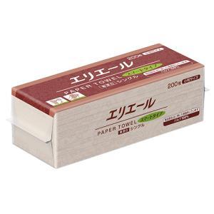 大王製紙 エリエールペーパータオル スマートタイプ 無漂白シングル 小判 200枚/パック 1セット(42パック)|tanomail