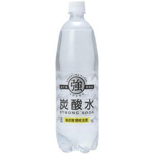 友桝飲料 強炭酸水 1L ペットボトル 1ケース(15本)|tanomail