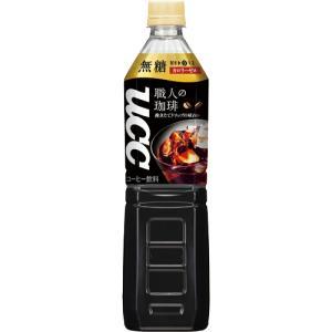 UCC 職人の珈琲 無糖 930ml ペットボトル 1セット(24本:12本×2ケース)|ぱーそなるたのめーる