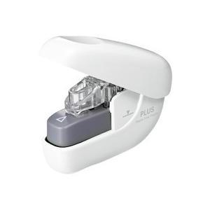 プラス 針なしホッチキス ペーパークリンチ 6枚とじ ホワイト SL−106NB 1個|tanomail