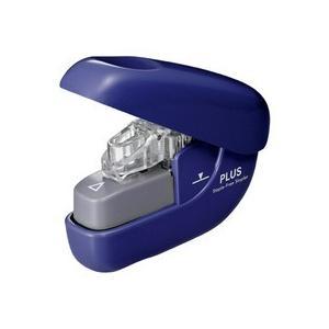 プラス 針なしホッチキス ペーパークリンチ 6枚とじ ブルー SL−106NB 1個|tanomail