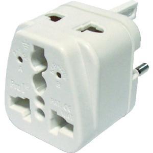 メーカー:スワロー電機  品番:MP-5  これ1個で各国のコンセントに対応することができます。
