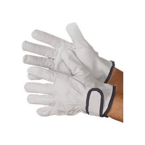 シモン 牛本革手袋 723P 白 LL 4130182 1双 (メーカー直送)の画像