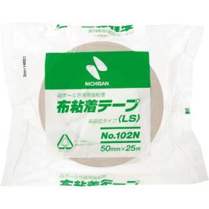 ニチバン 布粘着テープ 50mm×25m 黄土 102N7−50 1セット(30巻)|tanomail