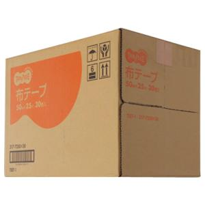 TANOSEE 布テープ 中梱包用 50mm×25m 1セット(30巻)|tanomail