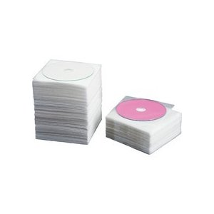 TANOSEE CD・DVD不織布ケース 片面1枚収納 1セット(500枚:100枚×5パック)|tanomail