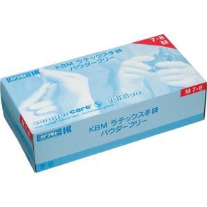 カワモト KBM ラテックス手袋 パウダーフリー M 1セット(300枚:100枚×3箱)|tanomail