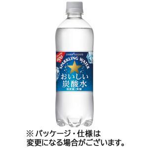 ポッカサッポロ おいしい炭酸水 500ml ペットボトル 1ケース(24本)|tanomail