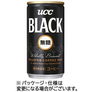 UCC ブラック無糖 185g 缶 1セット(6...の商品画像