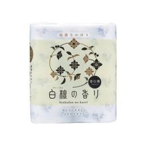 四国特紙 トイレットペーパー 白檀の香り ダブル 芯あり 114mm×30m 1セット(48ロール:4ロール×12パック)|tanomail