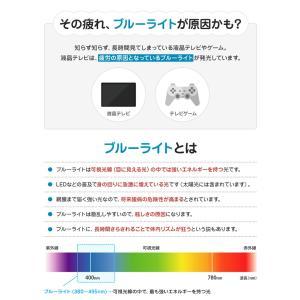 液晶テレビ保護パネル ブルーライトカット 43型 43インチ ベルト付 カット率44.73% 液晶テレビ 保護 パネル 2mm厚 43MBL4|tanonmasuwa|03