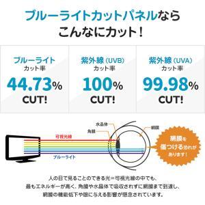 液晶テレビ保護パネル ブルーライトカット 43型 43インチ ベルト付 カット率44.73% 液晶テレビ 保護 パネル 2mm厚 43MBL4|tanonmasuwa|05
