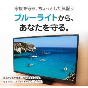 液晶テレビ保護パネル ブルーライトカット 40型 40インチ ベルト付 カット率44.73% 液晶テレビ 保護 パネル 2mm厚 40MBL4|tanonmasuwa|02