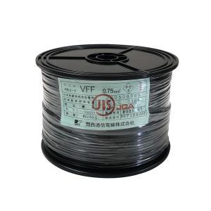 電源ケーブル 100m 巻 VFF 0.75 スプール巻 黒|tanonmasuwa