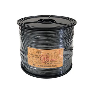 電源ケーブル 100m 巻 VFF 1.25 スプール巻 黒|tanonmasuwa