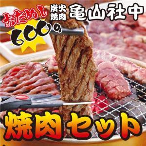 亀山社中 おためし 焼肉セット(華咲きハラミ・やわらかカルビ合計600g)(お試し BBQ バーベキ...
